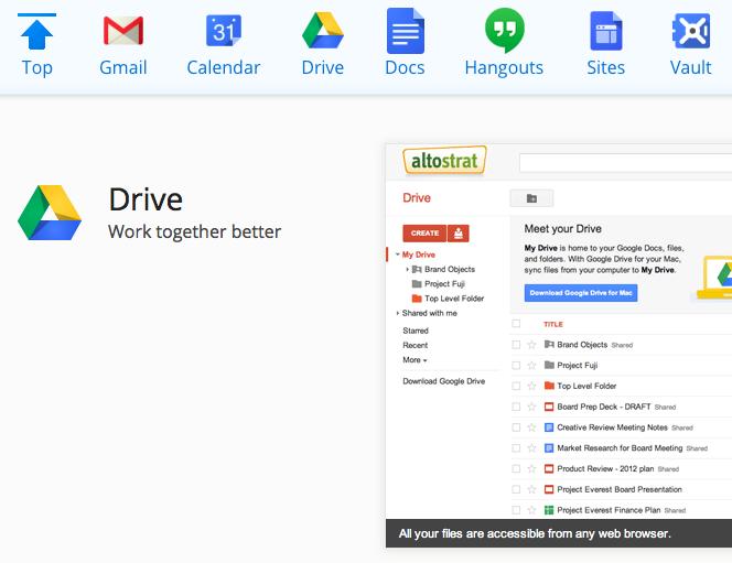 google drive online storage