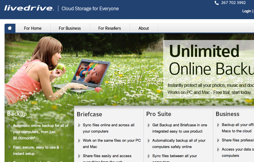 live drive cloud storage