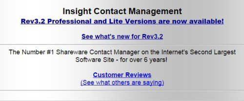 Insight Contact Management
